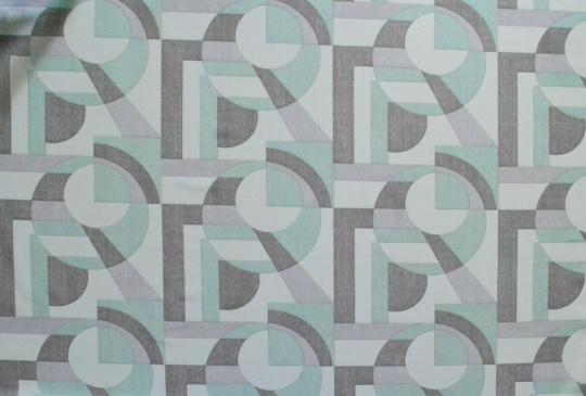 Belegtüll grau grün grafisches Muster