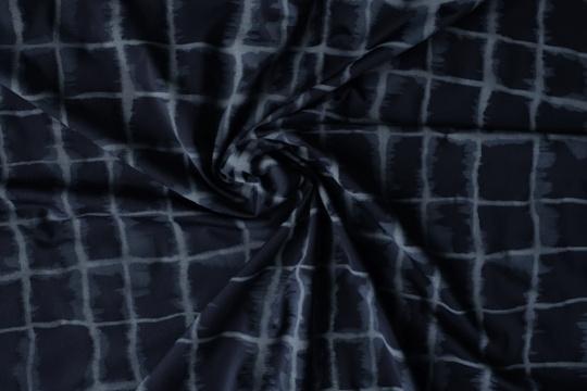 Mikrofaser blau grau aquarell Karo