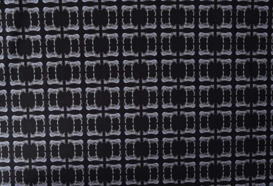 Mikrofaser Druck Zebras schwarz weiß