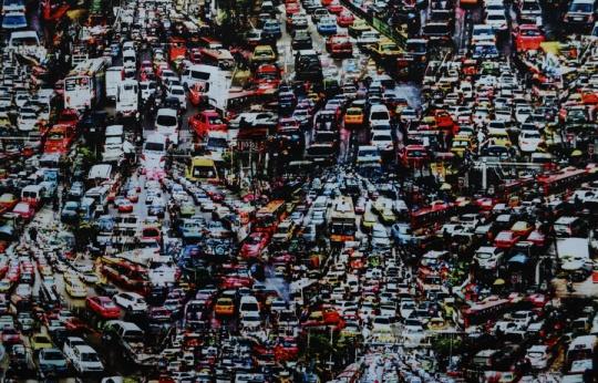 Mikrofaser Druck Autos schwarz rot blau weiß