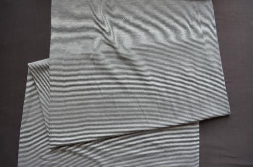 Leibweite weiß schwarze Streifen 31cm Meterware