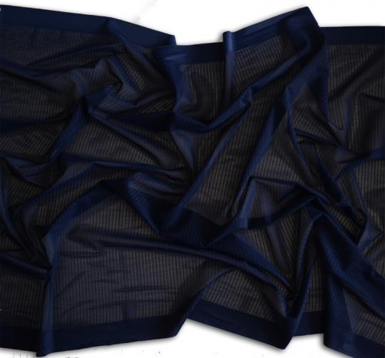 Mikrofaserband blau dunkel durchbrochen 60cm