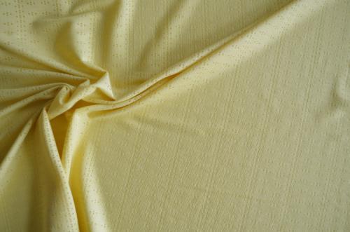 Baumwolle/Viskosestrick gelb Lochmuster Meterware
