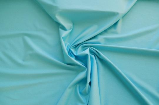 Baumwoll Jersey  blau türkis Meterware