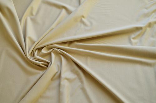 Baumwoll Jersey gelbl. beige Meterware