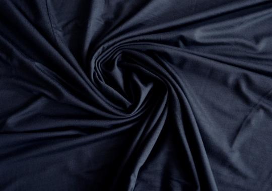 Viskosejersey mitternachtsblau individuell abgeschnitten