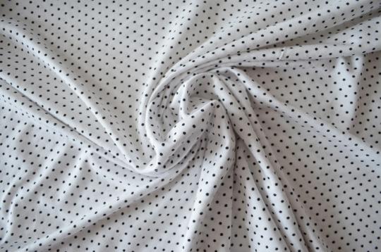 Viskose weiß schwarz Punkte