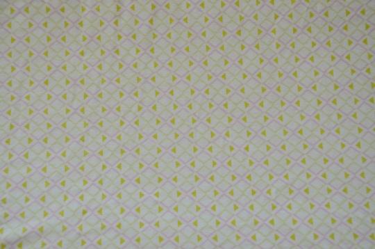 Baumwolle weiß rosa grün Muster geometrisch