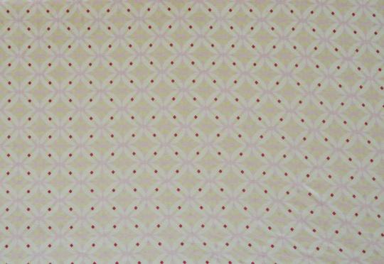 Viskose weiß rosa grün Muster Blumen geometrisch