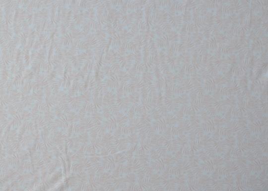 Baumwolle weiß rosa-apricot  Farn