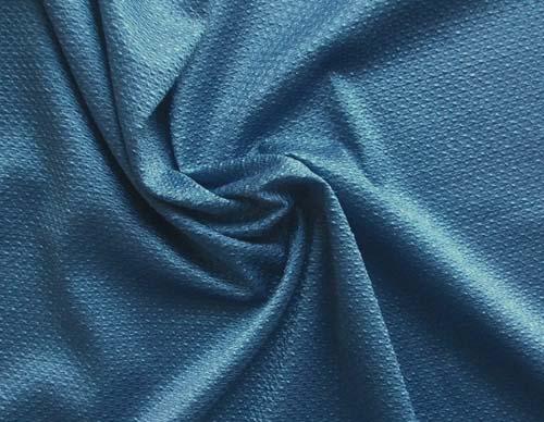 Strukturgewirk blau waffel Meterware