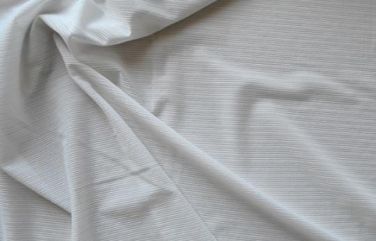 Strukturstoff  Tüll weiß Streifen Meterware