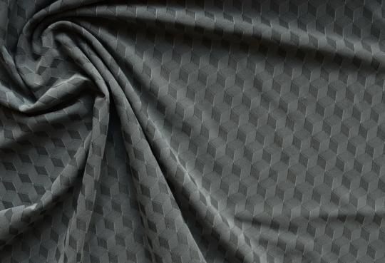 Strukturgewirk grau grafisch Meterware