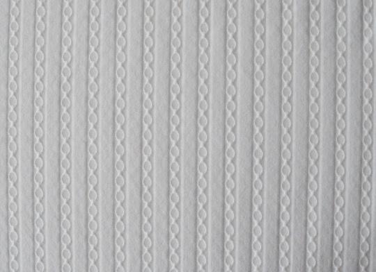 Strukturstoff Mikrofaser weiß Ketten Streifen