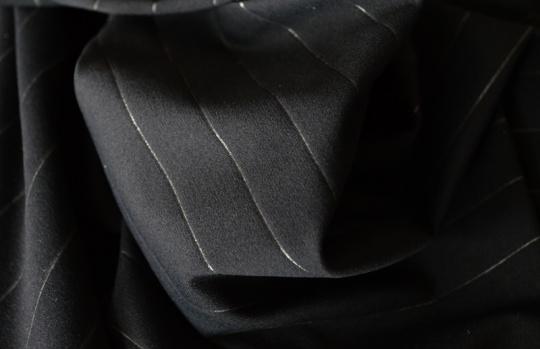 Strukturstoff Mikrofaser Modal schwarz mit transparentem Streifen