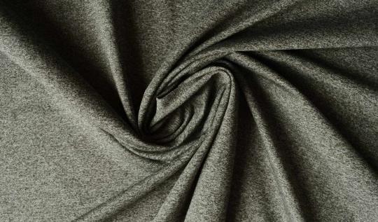 Strukturstoff grau Melange Baumwolle/Viskose/Polyester
