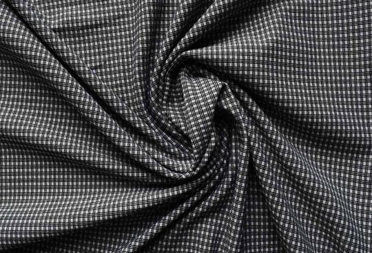 Strukturstoff schwarz weiß Karo