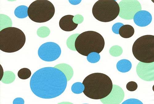 Badeware Druck wollweiß mit Punkten olive grün blau Meterware