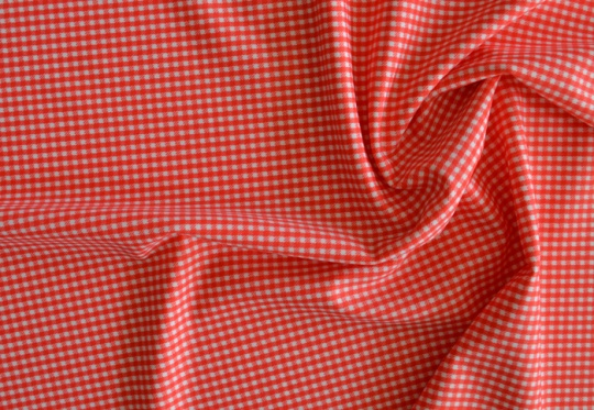 Badeware rot weiß Vichykaro meterware individuell abgeschnitten