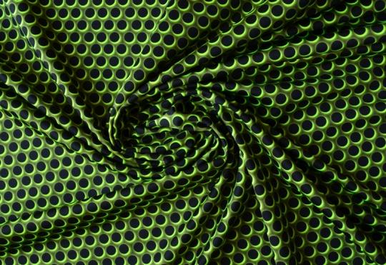 Badeware schwarz gelb-grün neon Punkte