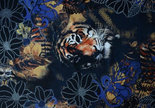 Badeware Tiger Blumen Streifen schwarz blau braun weiß Rapport!!