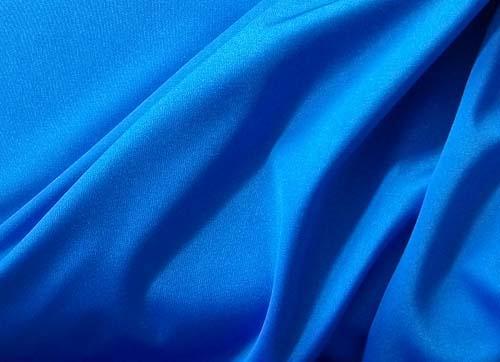 Badeware uni blau mittel Glanz Meterware