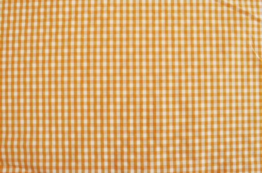 Webwaren Badestoff unelastisch orange weiß kariert