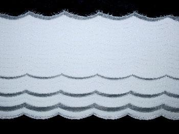 Spitzenband weiß 13cm Meterware