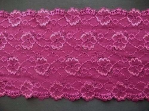 Spitzenband fuchsia rosa 15,5cm Meterware