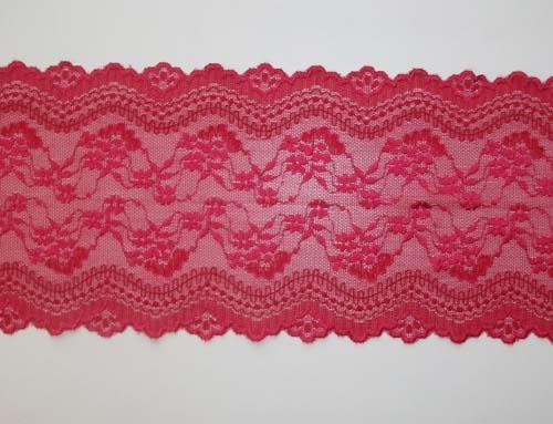 Spitzenband rot 14cm