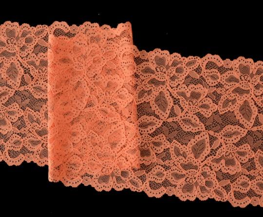 Spitzenband  orange 17cm unelastisch