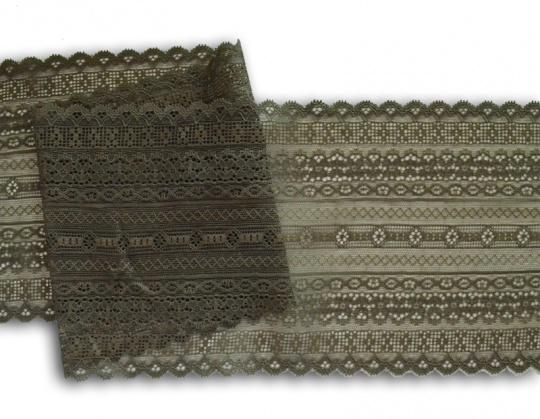 Spitzenband grau-braun 16cm