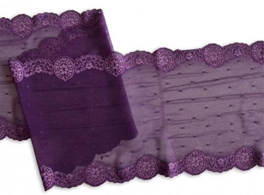 Spitzenband lila 17cm individuell abgeschnitten