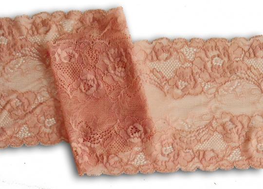 Spitzenband rosa lachs kräftig 17 cm individuell abgeschnitten