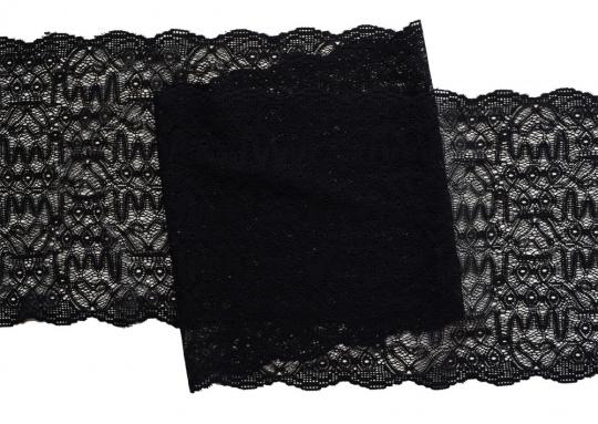 Spitzenband schwarz 20 cm