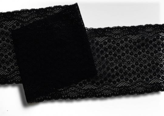 Spitzenband schwarz 17 cm individuell abgeschnitten