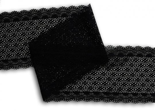 Spitzenband schwarz 16 cm