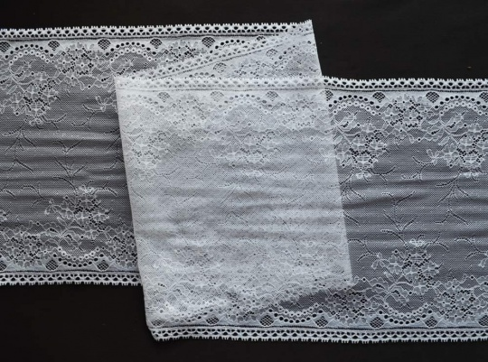Spitzenband weiß 23,5 cm