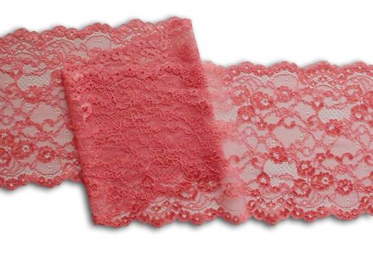 Spitzenband rot Flamingo 17 cm
