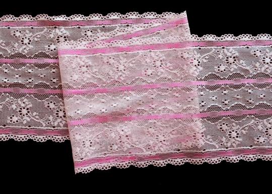 Spitzenband rosa 16,5 cm