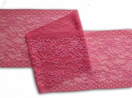 Spitzenband rosa Koralle 23 cm