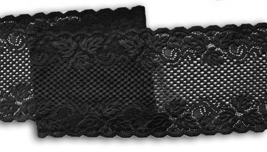 Spitzenband schwarz 15cm
