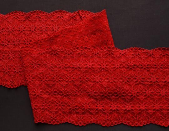 Spitzenband rot 12cm