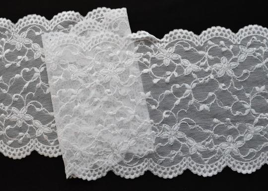 Spitzenband weiß 15cm