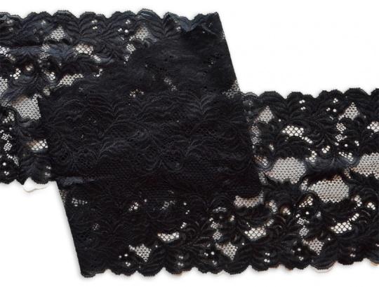 Spitzenband schwarz 17,5cm