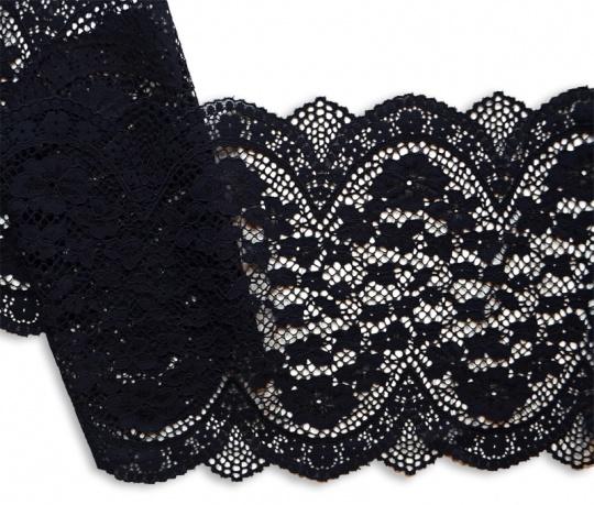 Spitzenband schwarz 24m