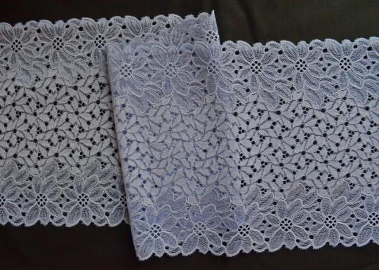 Spitzenband taubenblau 20,5cm