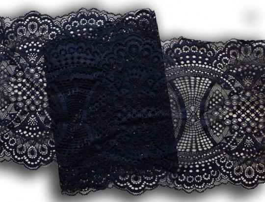 Spitzenband blau dunkel 23cm