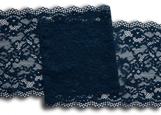 Spitzenband blau dunkel 21cm