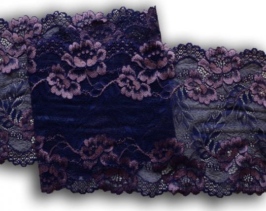 Spitzenband lila dunkel lila-rosa 18cm individuell abgeschnitten
